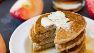 Gluten Free Apple Cider Pancakes (Vegan)