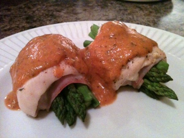 Chicken Roulade with Creamy Tomato Sauce