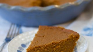 Easy Gluten Free Crustless Pumpkin Pie (Dairy Free)