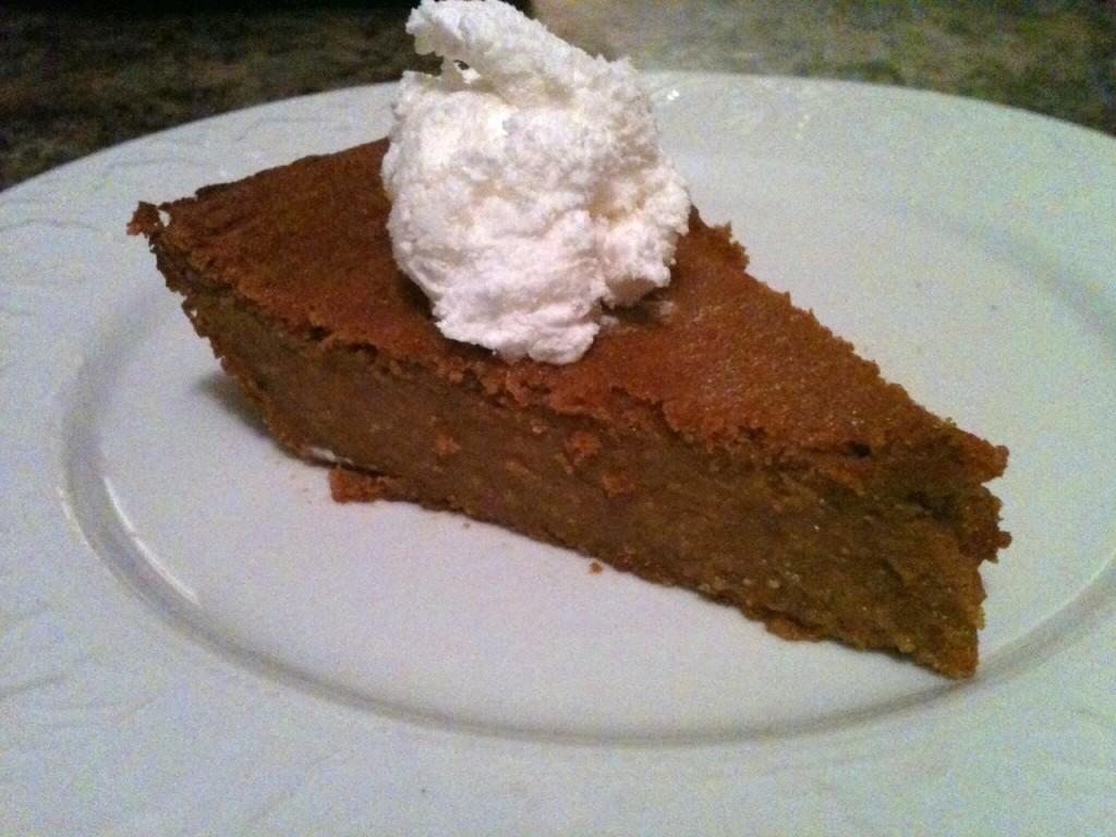 Easy Crustless Pumpkin Pie
