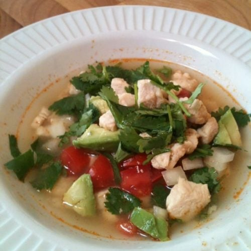 Sopa Fresca con Pollo