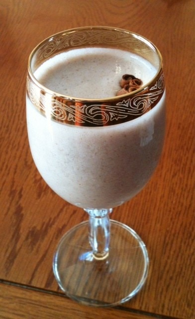 "Holiday ""egg"" Nog {egg and dairy free} - @thefitcookie #vegan #healthy"