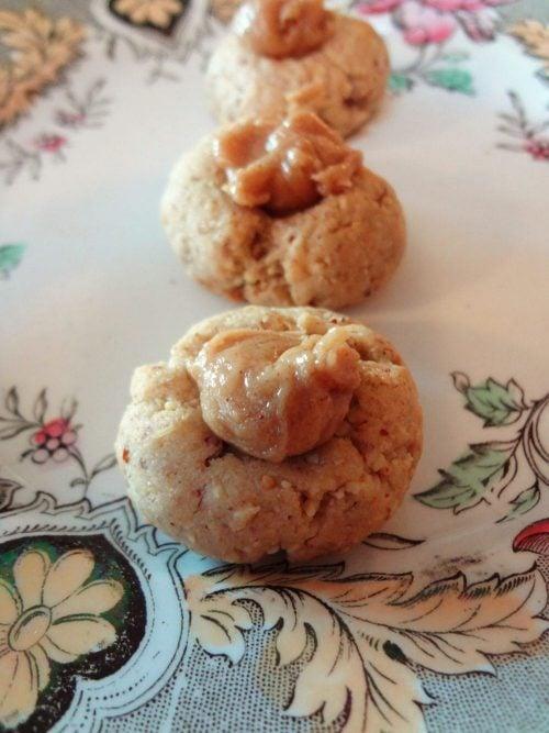 Honey Almond Thumbprint Cookies