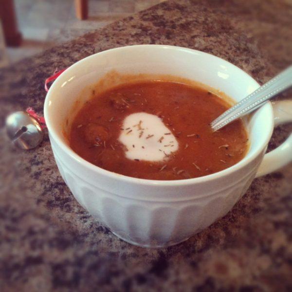 Dairy Free Sausage Pumpkin Soup (Gluten Free)