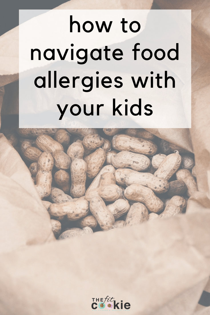 Dealing with severe food allergies can be tough and discouraging at times, but we can work together with our children and those around us to create a safe place for our children. Here are some ways to navigate food allergies with your kids - @TheFitCookie #foodallergies #health #family
