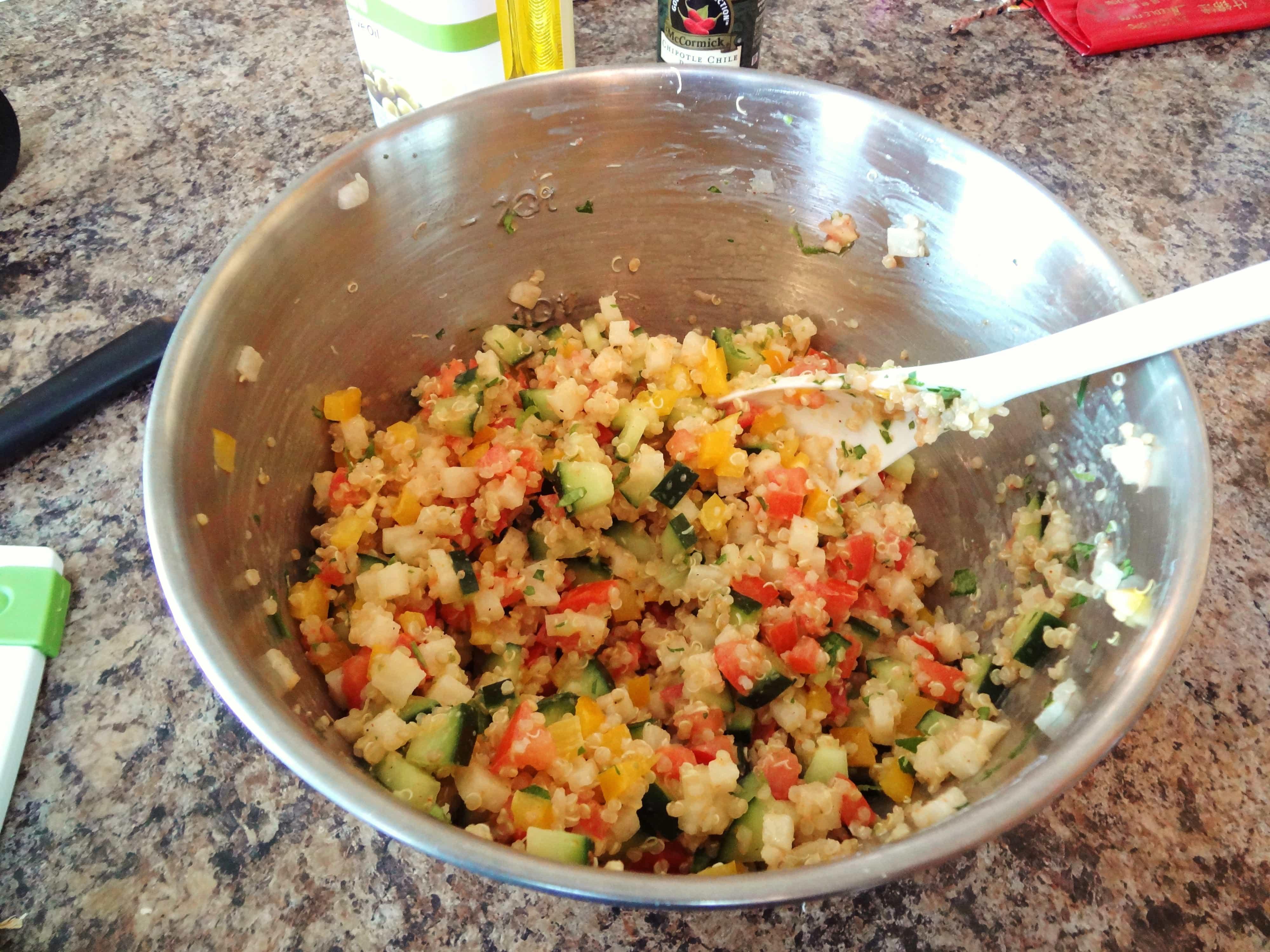 Quinoa salad sauce