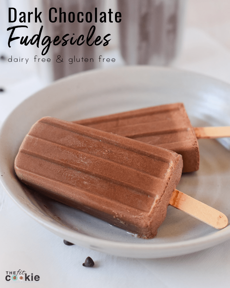 e916fa65501 Dairy Free Dark Chocolate Popsicles (aka Fudgesicles) • The Fit Cookie