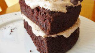 Gluten Free Mocha Chocolate Cake with Mocha Frosting