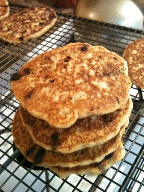 Best Ever Gluten Free Chocolate Chip Pancakes