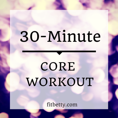 Improve your entire core strength with this 30-minute complete core workout! It only uses a stability ball and a weigh plate or dumbbell | thefitcookie.com #fitness #workout