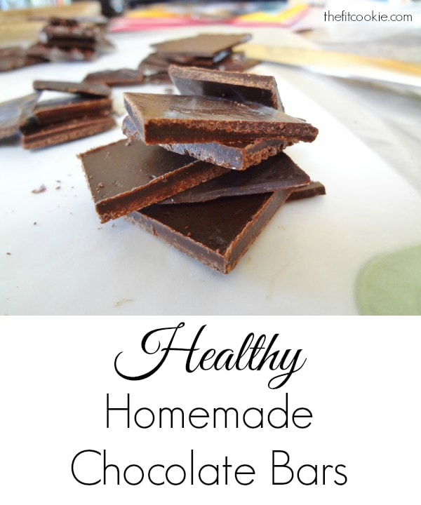 Healthy Homemade Chocolate Bars - @TheFitCookie #chocolate #DIY #healthy