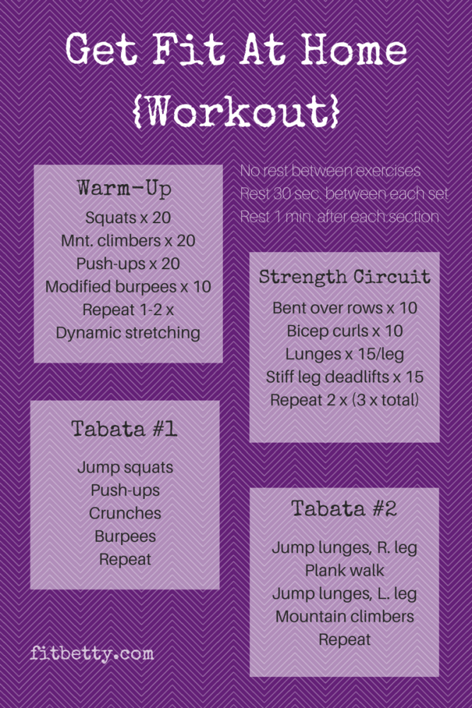 Get Fit At Home Workout - @Fit_Betty #workout #fitness #move