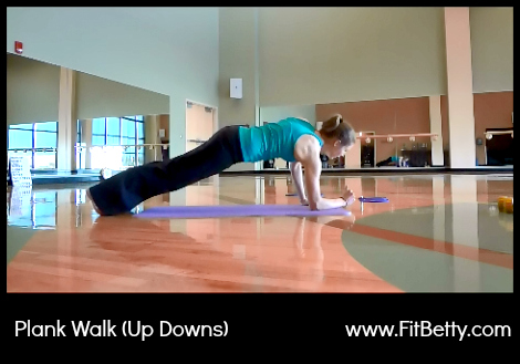 Plank Walk (Up-Downs) - Fit Betty