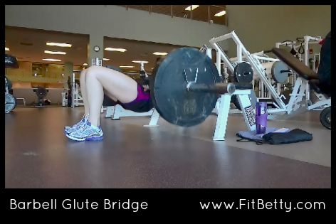 Barbell Glute Bridge exercise