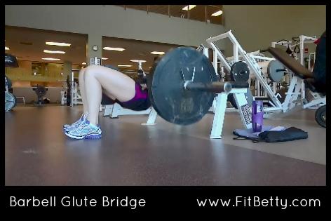 Barbell Glute Bridge - Fit Betty