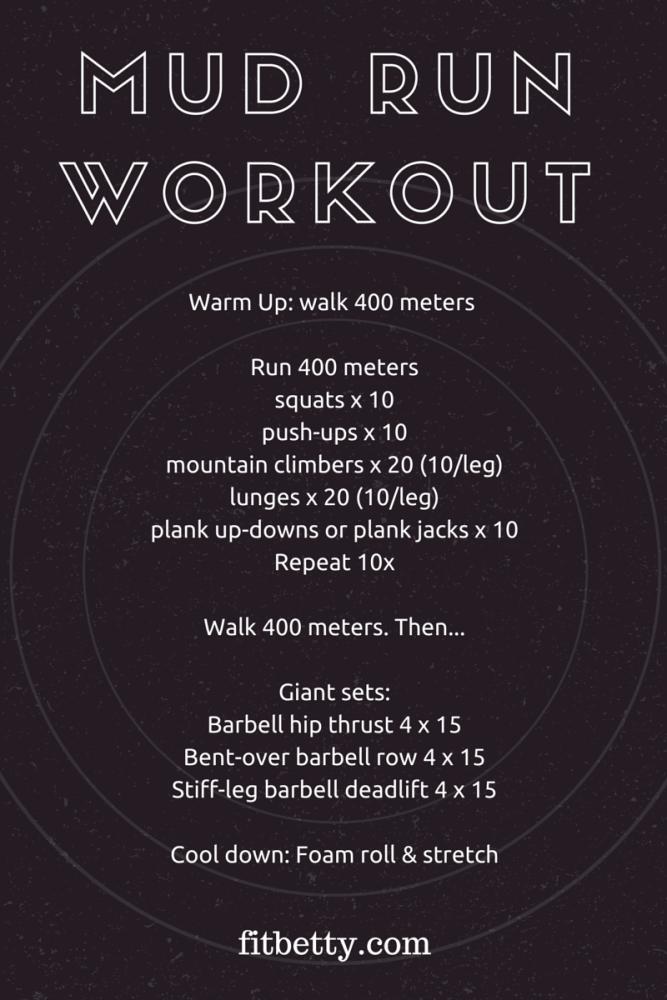 Mud Run Workout - @Fit_Betty #workout #mudrun #fitness