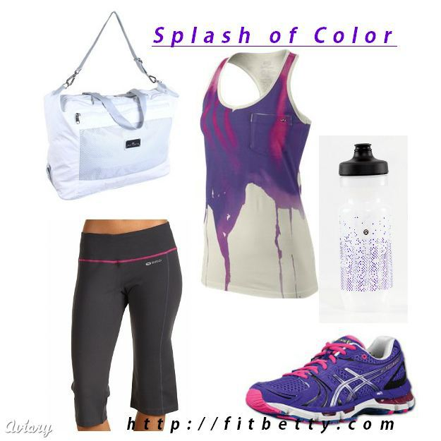 Workout Style: Splash of Color - @Fit_Betty #fitness #fashion