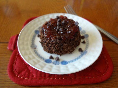 3-Minute Chocolate Cake - TheFitCookie.com