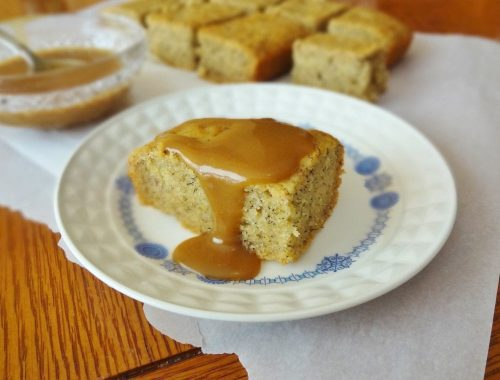 Banana Sheet Cake with Caramel