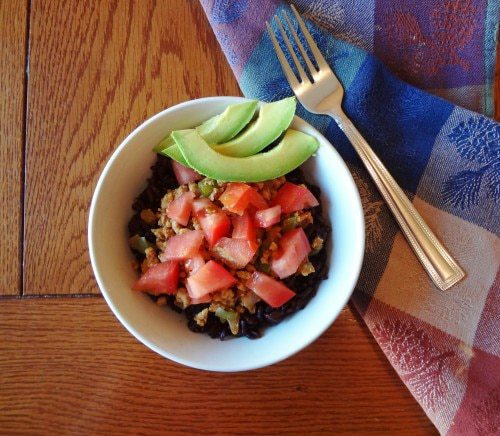 Spicy Taco Bowl with Black Rice