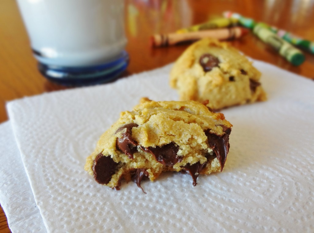 Allergy friendly Classic Chocolate Chip Cookies? Yes please! These delicious cookies are free of soy, nuts, eggs, and dairy - @TheFitCookie #glutenfree #dairyfree
