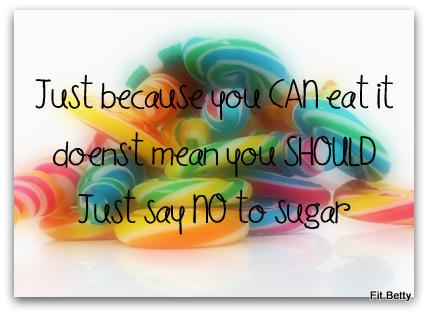 Just Say NO to Sugar!