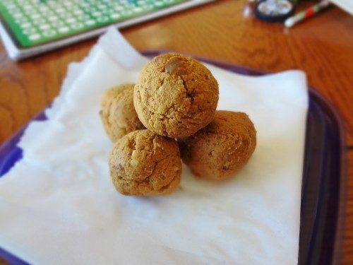 Pumpkin Spice Protein Truffles - @Fit_Betty @TheFitCookie #vegan #glutenfree #cleaneating