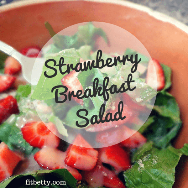 Strawberry Breakfast Salad (Paleo and Vegan)
