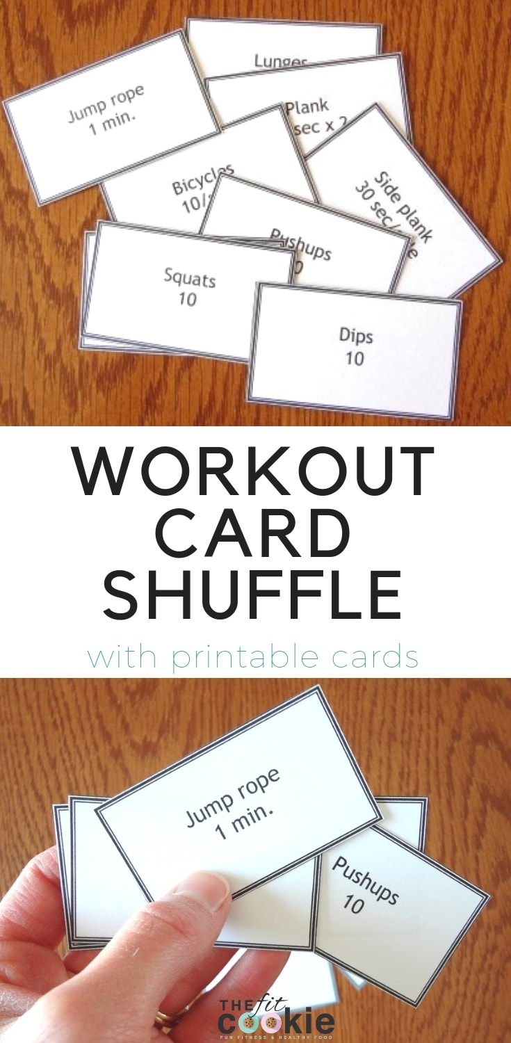 image relating to Printable Workout Cards named Health and fitness Pleasurable: Work out Card Shuffle The In shape Cookie