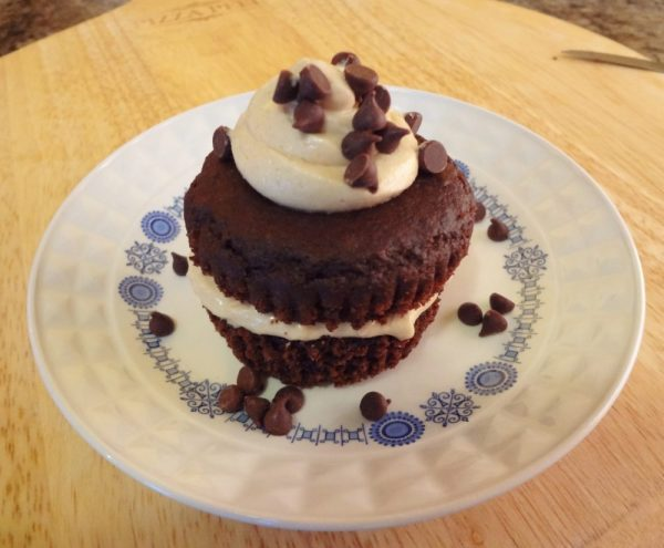 Chocolate Cupcakes with SunButter-Cream Frosting