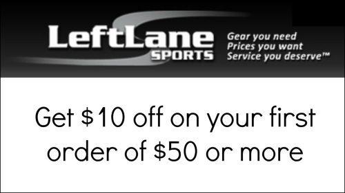 Get $10 credit on Left Lane Sports
