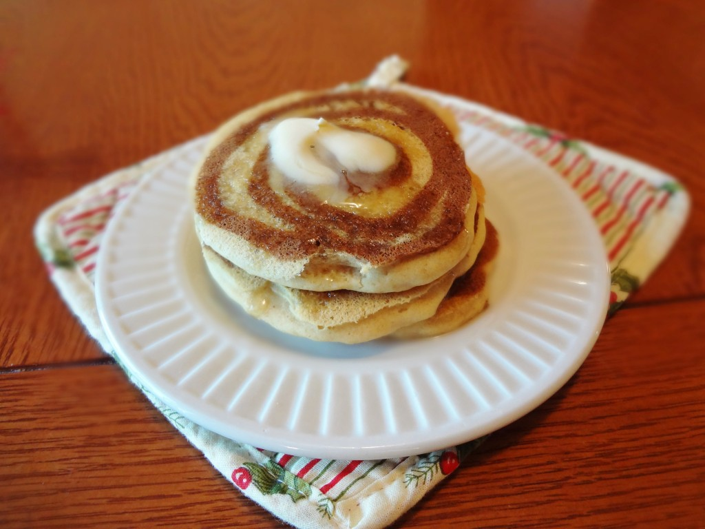 Gluten-Free Cinnamon Swirl Pancakes • The Fit Cookie
