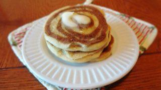 Gluten Free Cinnamon Roll Pancakes (Vegan)