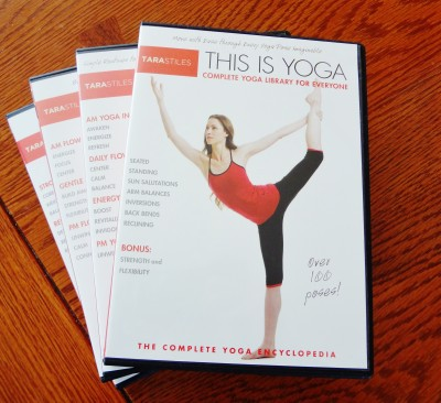 """Check out my week of yoga with Tara Stiles: my review of the """"This is Yoga"""" DVD series and video yoga library from Tara Stiles"""