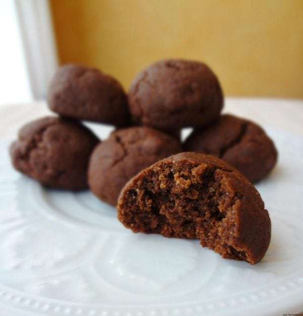 Fudgy, chewy, chocolatey - the perfect cookie! These Gluten Free Fudge Ball Cookies are perfect for holiday baking or any time of year!
