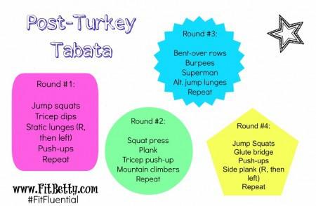 Post-Turkey Tabata Workout