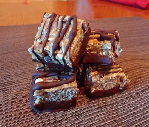 Chocolate Drizzled Protein Bars