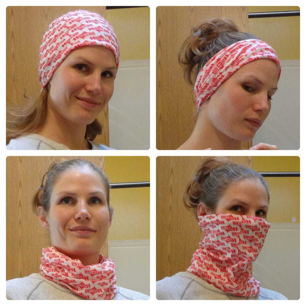 Different ways to wear a Hoo-rag