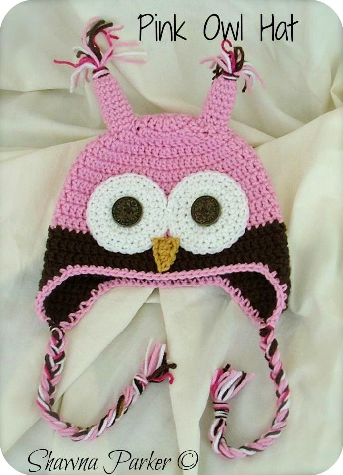 Pink Owl Hat 2