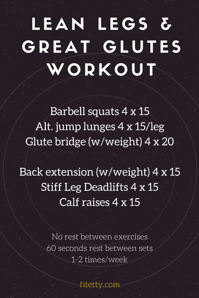 Shake up your workout routine with this simple but effective Lean Legs and Great Glutes workout! Do this workout a couple times a week for great results - @TheFitCookie #workout #fitness
