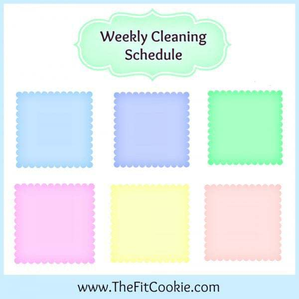 Printable Weekly Cleaning Schedules - @thefitcookie #home #organization #cleaning