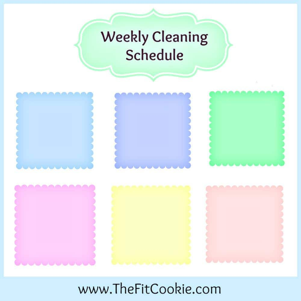 housework helper cleaning schedule the fit cookie. Black Bedroom Furniture Sets. Home Design Ideas