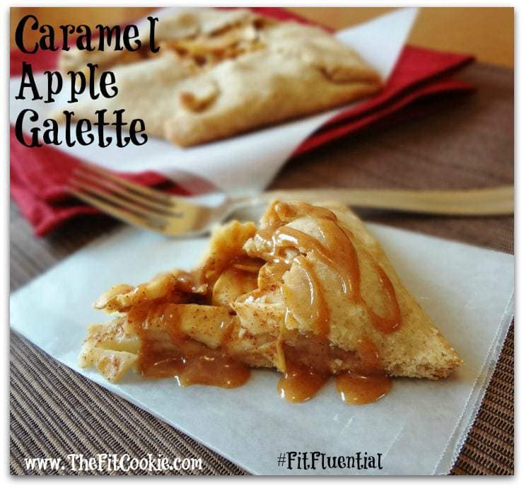 Dairy free gluten free Caramel Apple Galette for Thanksgiving