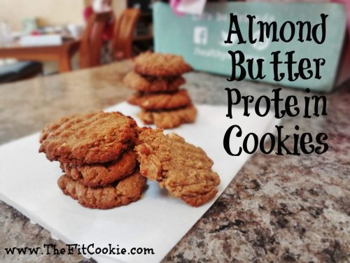 Almond Butter Protein Cookies - TheFitCookie.com