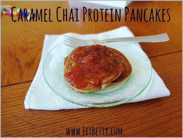 Caramel Chai Protein Pancakes