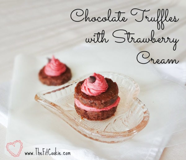Looking for a healthier option for your sweetie during Valentine's Day? These unique Chocolate Truffles with Strawberry Cream are paleo and vegan, so they fit any special diet! - @TheFitCookie #paleo #vegan