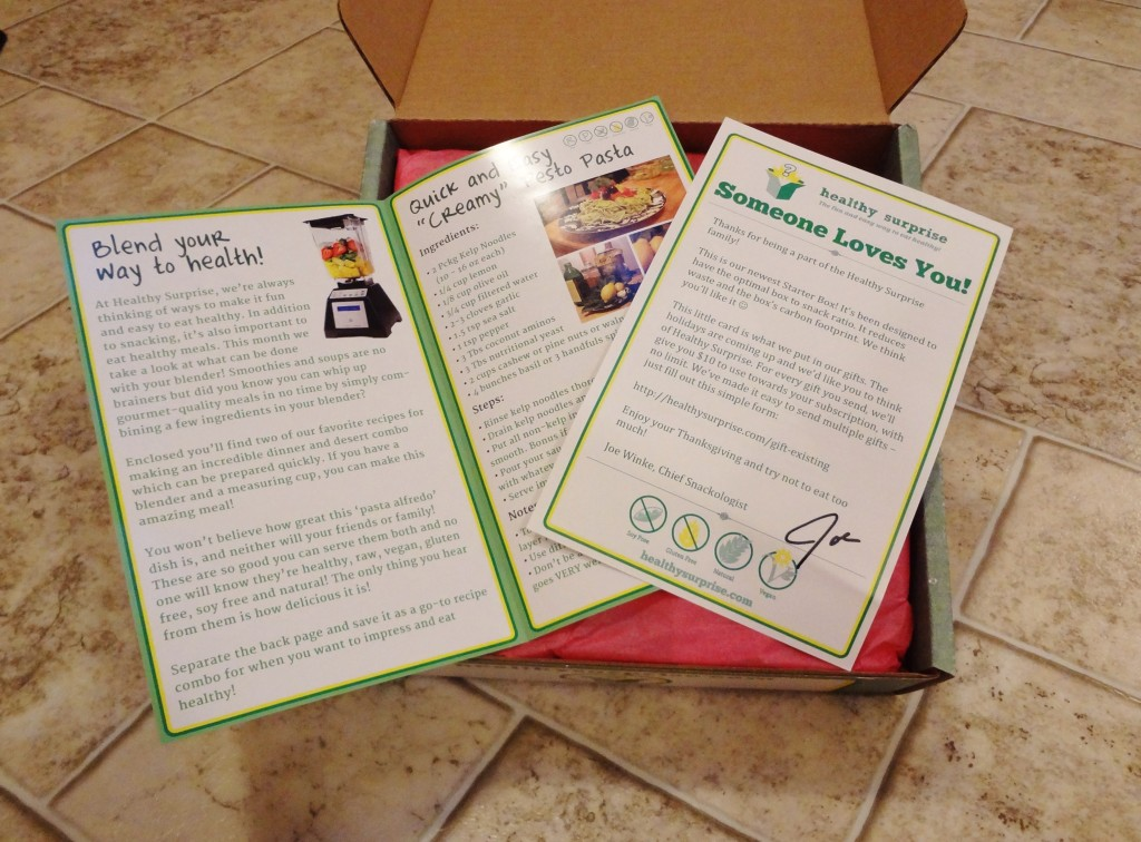 Healthy Surprise Box Info and Recipes