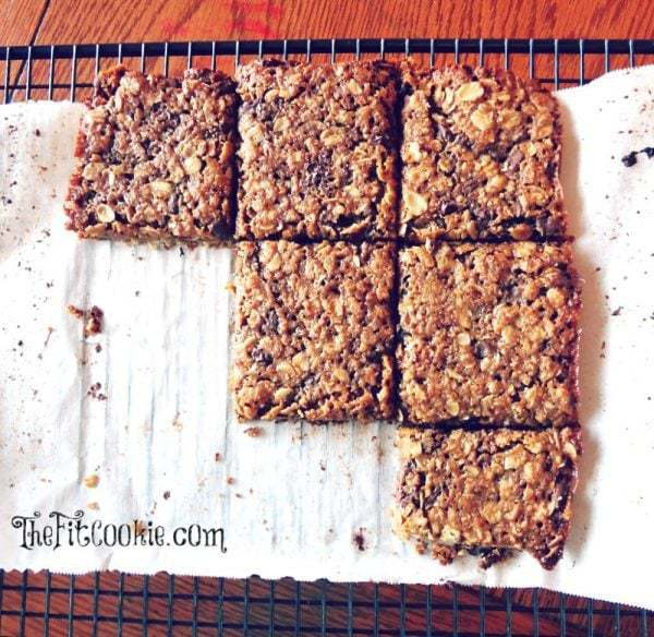 Craving granola bars that are simple, chewy, and better for you than store-bought? Make some of our best Gluten Free Granola Bars at home pack them for snacks and lunch! These also make awesome school snacks since they're peanut free | thefitcookie.com #peanutfree #glutenfree #snacks