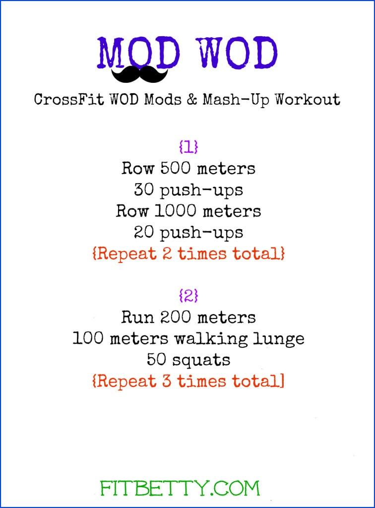Mod Wod Workout: Modified CrossFit Mashup - @Fit_Betty #workout #fitness