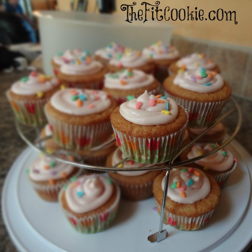 Vegan Vanilla Cupcakes - TheFitCookie.com